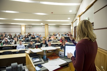 Karen Gebhardt, Assistant Professor in the Economics department in the College of Liberal Arts at Colorado State University teaching, March 09, 2015.